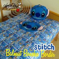 Bonmut Boneka Balmut Bantal Selimut Stitch Biru