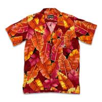 Tropical Heat Hawaiian Shirt Banana Leaves