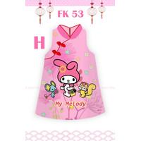 12Y - MY MELODY CHEONGSAM BAJU DRESS TEEN CEWEK FLOKIDS FK53H