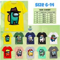 Baju Kaos Anak Laki-laki Among Us Series size 6-14 - mkau-kuning, 6