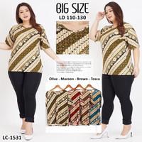 Baju Batik Wanita JUMBO / Blouse Batik JUMBO / Baju Batik BIG SIZE