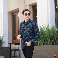 Baju Kemeja Batik Pria Lengan Panjang Pendek Modern Pesta Kantoran G40