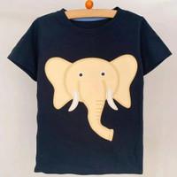 baju anak motif gajah 1-5 thn / setelan anak laki laki terbaru