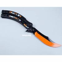 Butterfly Knife CSGO Balisong Marble Fade dan Black Shark, mainan 1:1!