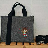 Sling Bag Kanvas Wanita Fashion Marhen j Custom Bordir Nama Inisial