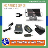 Microphone Mic Clip On Wireless PRANK VLOG untuk Smartphone HP/DSLR