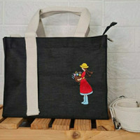 Tas Kanvas Sling Bag Fashion Tas Marhen j Custom Bordir Nama Inisial
