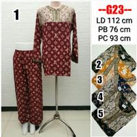Baju Tidur Rayon PP Renda Arab / Tie Dye Set / One Set Busui G23