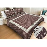 Comforter Vintage Korea Set Sarung Bantal Ukuran 220X240