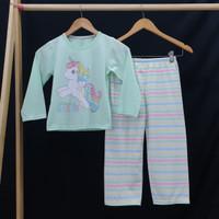 UNICORN Setelan Piyama Baju Tidur anak perempuan PANJANG uk 4-18 - 16