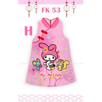 2Y - MY MELODY CHEONGSAM BAJU DRESS ANAK CEWEK FLOKIDS FK53H