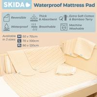 Skida Waterproof Pad Bamboo Changing Mat Alas Ompol Perlak Bayi Dewasa