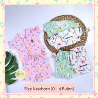 3 STEL LITTLE Q SETELAN BAJU BAYI PEREMPUAN BARU LAHIR BABY NEWBORN 2