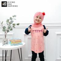 Baju Kaos Raglan Anak Perempuan 1 - 12 Tahun Ammar Kids AR39 Ngaji Yuk - Ngaji Yuk, XS