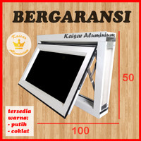 Jendela Aluminium 100 x 50 Jendela Almunium 50x100 Jungkit Boven Light