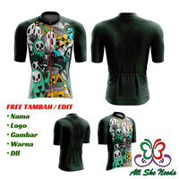 Jersey Roadbike Custom | Baju Kaos Sepeda Balap Custom | GHOST RIP - XS
