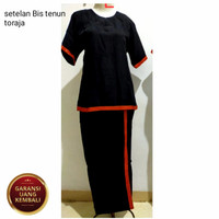 Baju adat Toraja satu set baju Toraja wanita - Hitam, S