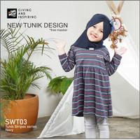 Tunik Kaos Katun Anak 4 5 6 7 8 9 10 11 12 13 Tahun / Dress Anak Cewek