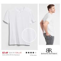 BANANA REPUBLIC quick dry men t shirt (white)