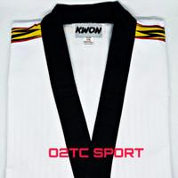 dobok kwon tiger baju taekwondo kerah hitam original