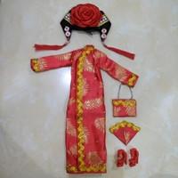 Baju Cheongsam Set untuk Barbie Mattel/ BJD/ Kurhn Doll