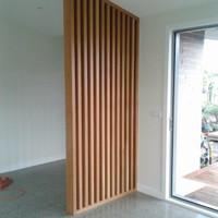 partisi penyekat ruangan kayu solid 250x200x7