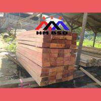 kayu balok 6x12 merah lokal super panjang 4meter