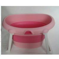 KANDILA BABY BATH FOLDING SPA - BAK MANDI BPA FREE - Merah Muda