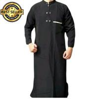 Jubah Gamis Baju Koko Pakaian Muslim Pria Dewasa Tangan Panjang