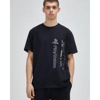 pull&bear black playstation t shirt original