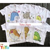 Baju Kaos Anak Bayi Motif / Baju Kaos Oblong Harian Anak Bayi Karakter