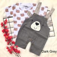 Baju setelan kaos kodok gambar beruang lucu fashion anak bayi laki