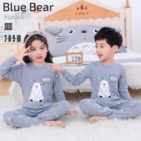 Baju tidur setelan - piyama anak Blue Bear (unisex)