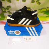 Sepatu Adidas Hamburg Black White Original