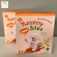Yummy Bites Rice Crackers 50g Carrot/ Wortel Makanan Bayi/Biskuit Bayi