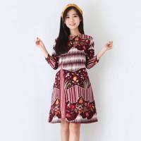 Baju Batik Wanita-Dress Batik Wanita Motif Merak Size M & L