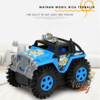 Mainan Anak Mobil Polisi / Mainan Mobil Terbalik Flip Ban isi 5 PCS