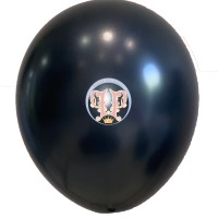 Balon Latex Metalik Hitam 12 inch   Kualitas Jerman   Grade A