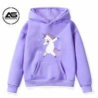 [COD] Baju Anak Unisex Hoodie Anak Perempuan Unicorn Umur 6-10 Tahun