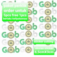 Sticker motor stiker cutting setiker nyala edisi ojol grb