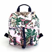 Backpack Wanita TB* Tilda Printed Nylon Flap