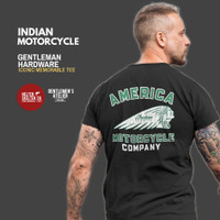 Kaos Indian Motorcycle Motor Bikers Classic Retro Vintage Caferacer - L