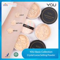 YOU Basic Collection Crystal Loose Setting Powder (Bedak Tabur) BPOM - 01 LIGHT
