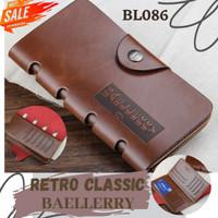 BL086 DOMPET RETRO CLASSIC KULIT PANJANG KARTU CARD ORIGINAL BAELLERY - RETRO 3