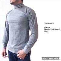 Baju TURTLENECK Style kaos leher tinggi pria turtle neck ABU MUDA adem - abu muda