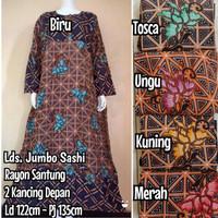 Daster Panjang Jumbo / Daster Jumbo Muslimah / Baju Tidur Wanita Jumbo