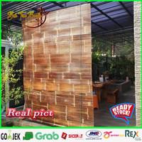 Tirai/krey bambu kulit Ukuran L-1m x T-2m sudah di vernis