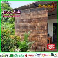 Tirai bambu,krey bambu Kulit Ukuran L-1m x T-2.5m Sudah vernis