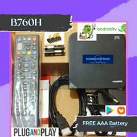 ANDROID TV BOX STB ZTE B760H FULL UNLOCK, ROOT & APP. FREE AAA BATTERY