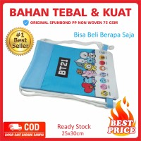 Tas Ultah Backpack Serut Ready Stock BT21 Blue BTS Terlaris KPOP